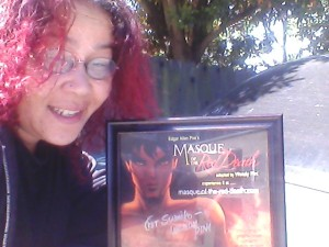 Me with my signed Masque print