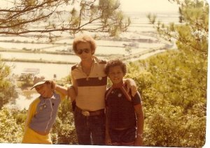 Me, my dad and my brother in 1979 at China/Hong Kong border