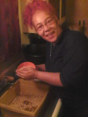 And STILL washing pumpkin seeds!