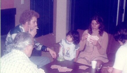 My dad (smoking) with my cousin Gina and his sister (her mom) Charlene in the early 70s