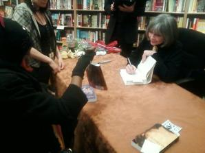 Mom at Anne Rice's book signing a year ago today.