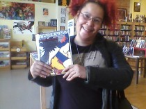 At Fantastic Comics in Berkeley with Agrippa